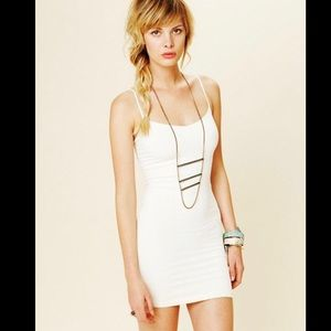Free People Intimately Cream Seamless Slip Dress